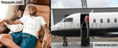 Davido Admits Private Jet Belongs To His Father