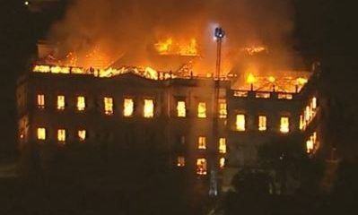 Massive Fire Engulfs Brazil's National Museum Destroying Priceless And Ancient Artifacts