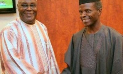 Atiku VS Osinbajo: What's The Wisdom In Sharing $322 Million Of Abacha Funds To The Poor Only To Take A Loan Of $328 Million From China The Next Month