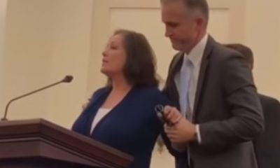 Lady calls out her alleged rapist live during church service (video)