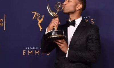 John Legend Becomes The First Black Man And Youngest Person To Win An Emmy, Grammy, Oscar And A Tony Award