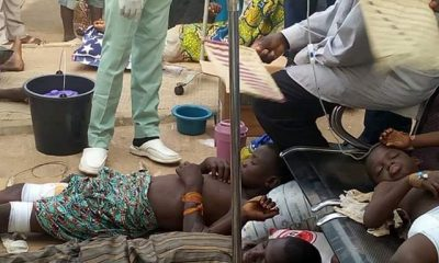 Photo: Children Injured In Zamfara Attack On The Floor At Specialist Hospital Gusau