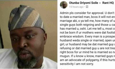 Ladies Who Refuse To Date Married Men Are Foolish – Man Says