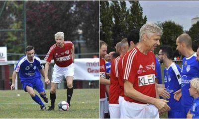 Arsene Wenger Plays Football Match After Retirement
