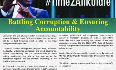 Atiku Shares Thoughts On Battling Corruption & Ensuring Accountability (#Time2Atikulate series)