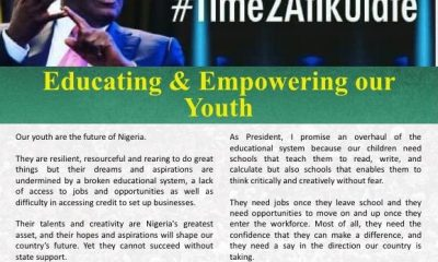 Atiku Shares Thoughts On Educating And Empowering The Youth(#Time2Atikulate series)