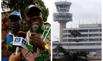 Video: Fight Breaks Out As NLC Attempts To Shut Down Lagos Airport