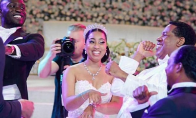 ''She Wasn't Dressed To Impress You'' - Pastor Oyakhilome's Daughter's Hubby Replies IG User Who Criticized Her Wedding Dress