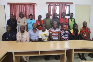 Police parade vigilante group leader and his members that that kill their victims and sell their organs in Kogi
