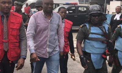 PHOTOS: Fayose Lands In Lagos Ahead Of Court Trial