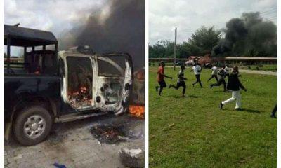 PDP Presidential Primary: Hoodlums Attack Policemen, Set Van Ablaze