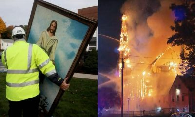 Jesus Painting Survives Fire That Destroyed 150-year-old Church