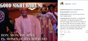 "Veteran Nigerian comedian, Baba Sala is reportedly dead as confirmed by his son who shared news of his demise on Instagram. Nigerian comedian Baba Sala, dies at 81 lailasnews Share The Nigerian comedian, Baba Sala died at the age of 81. Nigerian comedian Baba Sala, dies at 81 lailasnews 1 Share Baba Sala was first rumoured dead in 2017, but Mr Boisala Adejumo, one of Olaiya's sons, debunked the report and told newsmen that the veteran actor was alive, "" hale and hearty.'' Popular Nigerian comedian, Gbenga Adeyinka, also apologised to Nigerians for posting a false claim that veteran comedian, Moses Adejumo, popularly known as Baba Sala, was dead. Mr. Adeyinka issued the apology via his Instagram page where he had earlier made the false claim. He wrote; ""Good evening please DISREGARD the news of Baba Sala's demise. The source has since recanted. So sorry for the misinformation. ""Feeling very stupid that I just took his word for it. Sorry again"" Baba Sala also rumoured to have died some months ago was born on May 18, 1936. He hails from Ijesha, Osun. He is an ace actor and a musician, dramatist and a comedian. He could be described as one of the fathers if not even the grand-father of the modern Nigerian comedians. He always sings in a spectacular way in all his movies due to his passion for music. READ ALSO! Some of my fans ask me to marry them – Oyemykke Baba Sala started his career as a musician of 'High life' in 1964 under a brand name of a band known as 'Federal Rhythm Dandies'. The band tutored and guided King of Juju music, Prince Sunday Adeniyi Adegeye, popularly known as King Sunny Ade (KSA) where he used to play the 'Lead Guitar' role."