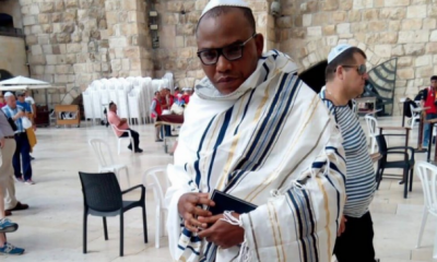 """The Israeli government has said there is no evidence to prove that the leader of the proscribed secessionist group, IPOB, Nnamdi Kanu, was or is in their country. Recall that last Friday October 19th, Kanu resurfaced in a live video on Facebook with claims he is in Isreal. Kanu went missing in September last year after the military invasion. Reacting to the viral video, the spokesman of the Israeli Foreign Ministry, Emmanuel Nashon, told newsmen in Abuja that there was no evidence that the leader of IPoB was in their country of recent. According to Nashon, the video of Kanu could be an old one. """"There are no details about his recent visit to this country yet,"""" Nashon said"""