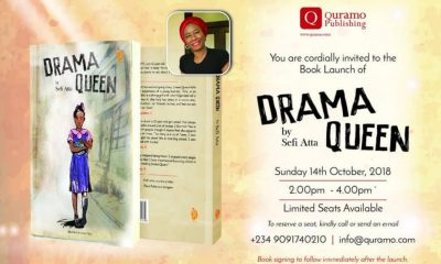 "Sefi Atta, playwright and award winning author of ""Everything Good Will Come"" will launch her first children's book ""Drama Queen"
