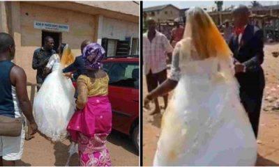 First Wife Pours Red Oil On Husband's New Bride On Wedding Day