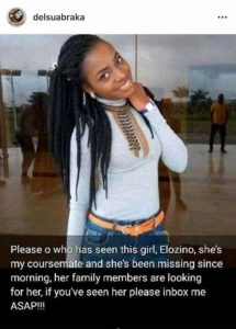 Photos: Missing 300L Student Of Delta State University Found Dead With Breasts And Tongue Removed