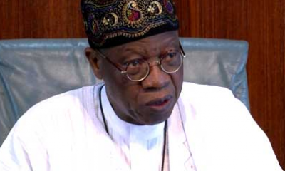 ''It is idiotic to say Buhari is cloned'' Minister of Information Lai Mohammed says