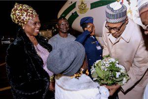 Photos: President Arrives France For Peace Forum