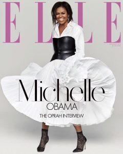 Michelle Obama Covers December's Issue Of Elle As She Opens Up To Oprah About Life After Been First Lady