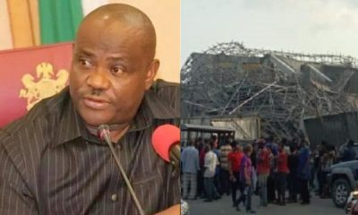 Wike speaks on collapsed 7-storey building, declares contractors wanted