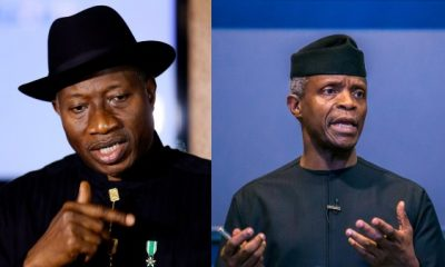 You Have Leprous Finger – Goodluck Jonathan Fires Back At Osinbajo