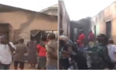 Father, Mother And Baby Burnt To Death In House Fire In Benin