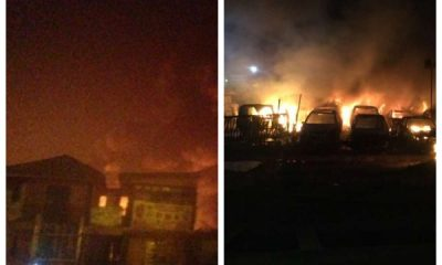 Fire Outbreak At Abule Egba Due To Pipeline Vandalism