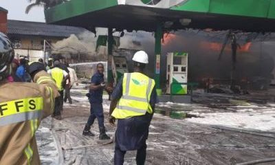 BREAKING: Petrol Station In Lagos Airport On Fire