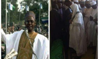 Shehu Shagari Buried In Sokoto – See Photos From Ex-President's Funeral