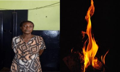 A woman who allegedly burned her husband and his girlfriend to death, has been remanded in prison custody after being arraigned before an Oda District Magistrate Court. Woman allegedly burns husband and his girlfriend to death lailasnews Share Theresa Nkrumah, the 54-year-old woman will be reappearing before the court presided over by Mr. Kwesi Apiatse Abaidoo, on January, 8, 2019, after her plea was struck out. It was gathered that the woman allegedly burned her husband and his girlfriend to death, in an incident which occurred at Akyem Gyadam near Oda in the Eastern Region of Ghana. The suspect who realized that her husband with whom she had three children was flirting with Tiwaa and quarreled with them on several occasions, had on December 13, 2018 around 12:05 a.m, set the former family house Osam and Tiwaa were sleeping in on fire. Eyewitnesses disclosed that the house was razed down after an unidentified person poured petrol into the room, and lit a match to it. However after the fire victims realized that the door had been locked from outside, they started screaming for help. Their shout for help, got the attention of residents of the area who broke down the door and quickly rushed the badly burnt couple to the Oda Government Hospital. READ ALSO! The economy is in a bad shape - Buhari tells Governors Tiwaa died immediately she reached the hospital, however Osam was treated and referred to the Korle Bu Teaching Hospital for specialist attention the following day where he died. While the body of 55-year-old Emmanuel Kwame Osam was deposited at the morgue in Korle Bu Teaching Hospital, the corpse of his girlfriend, Akosua Tiwaa aged 34, was deposited at the mortuary of the Oda Government Hospital awaiting autopsy.