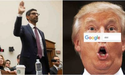 Google CEO Explains Why Search For Idiot Brings Up Trump