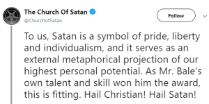 Church Of Satan Reacts To Christian Bale's Tribute To Satan