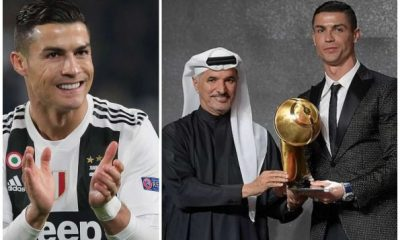 Cristiano Ronaldo Named Best Player At The Globe Soccer Awards