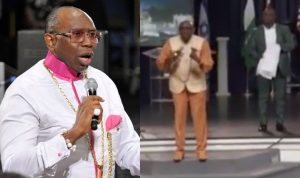 "Pastor Oritsejafor, the former CAN President and Senior Pastor of Word of Life Bible Church, located in Warri, Nigeria, has been called out by social media users for allegedly asking members to pay $5,000 for a mantle.  Pastor Oritsejafor called out for asking members to pay $5,000 for a mantle lailasnews Share      Pastor Oritsejafor who asked 90 members of Morris Cerullo's church in the United States to pay $5,000 for the mantle, said they won't miss God if they do.  A Nigerian pilot who called him out over the claims, accused him of being a charlatans who has turned Yahweh into a God that needs money.  He wrote;  Nigerian Pastor Ayo Oritsejafor was in Morris Cerullo's church in America recently, looking for 90 people to give 5000USD each (450,000USD) for a mantle so they do not miss God. My question is, those that don't have 5000USD to give, are they going to miss GOD? –  These charlatans have turned Yahweh into a God that needs money(mammon). Is it not written in 1 Peter 1:18 that we were redeemed without perishable things such as silver and gold but with the precious blood of Christ?? ""For you know that it was not with perishable things such as silver or gold that you were redeemed from the empty way of life handed down to you from your ancestors, but with the precious blood of Christ, a lamb without blemish or defect"" –  Why then do people need to pay 5000USD so they don't miss God??? I guess in America where poverty level is not has high as Nigeria and health care is top notch the only thing to sell to the gullible believers is Salvation. –  I don't believe God has sent you to collect peoples money so they don't miss HIM, and like you said in the earlier parts of this video you're a crazy man Pastor Ayo.  He called himself crazy I only rephrased it in my previous post. Africans are crazy people indeed, to build the largest church auditorium in the poverty capital of the world. Crazy people when una go get sense??? JC"