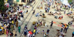 Lagos Government To Clampdown On Traders On Rail Lines