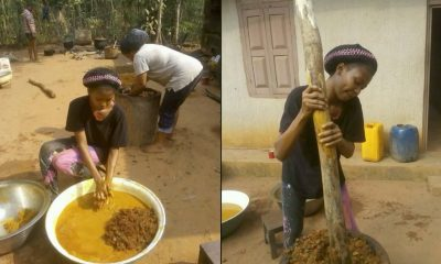 ASUU Strike: Lucrative Student Learns Palm Oil In The Village (Photos)