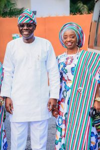 #PMBINLagos: Check Out Beautiful Photos Of Sanwo-olu, Hamzat And Their Wives Durin APC Rally Today