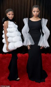 Chloe x Halle proved their status as fashionistas wearing dramatic black and white designs while