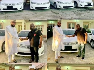 Photos: Business Man E-Money Gives Out Four Cars To Marks His Birthday