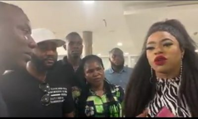 Sowore Omoyele Spotted Having A Serious Chat With Bobrisky At The Airport (Video)