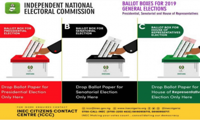 #NigeriaDecides: INEC Releases Colour Of Ballot Papers, Boxes