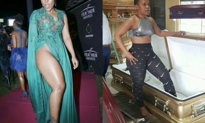 'Pantless' South African Dancer Zodwa Wabantu 'Test Drives' Own Coffin