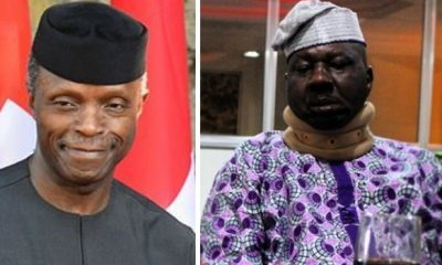 VP, Osinbajo Donates N1M For The Treatment Of Actor Baba Suwe Who Is Battling Chronic Diabetes