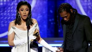 Cardi B Makes History As First Solo Woman TO Win Best Rap Album The Grammys