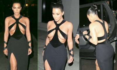 Kim Kardashian Shocks In Vintage Thierry Mugler Gown With Restrictive Cleavage Cut-outs To Attend Beauty Awards