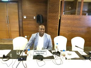Adesanmi at the AU ECOSOCC meeting 2017, he was travelling to attend the 2019 edition before he left us