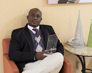 Adesanmi, after winning the Canadian Bureau of International Education award of excellence