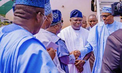 Tinubu Absent As President Buhari Visits Lagos
