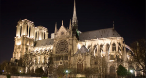 Spire of Paris's 850-year-old Notre Dame cathedral Collapses As Fire Guts Historic Building